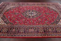 Traditional Floral Ardakan Oriental Area Rug Wool Hand-Knotted RED Carpet 7'x10'