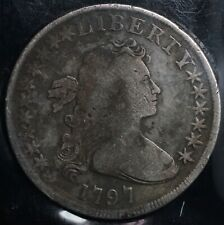 RARE 1797 Silver Draped Bust One Dollar S$1 - 10 Stars Left 6 Right