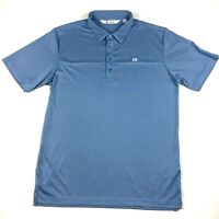 Travis Mathew Men's Golf Polo Shirt Size Large Short Sleeve Light Blue EUC