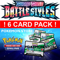 100 Battle Styles Codes 6 CARD PACK Pokemon TCG Online Booster PTCGO SWSH5 EMAIL