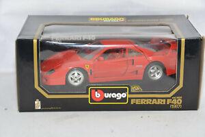 i56 1987 FERRARI F40 RED 1:18 BBURAGO cod.3032 VERY RARE