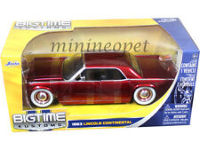 JADA BIGTIME 90607 1963 63 LINCOLN CONTINENTAL 1/24 RED with ORG WHEELS