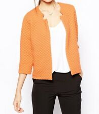 ASOS Textured Jacket Blazer Size 8 Orange Formal Wedding Blogger Bubble Top Crop