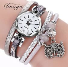 Armbanduhr Uhr Damenuhr silber grau weiß Strass Wickelarmband Armband