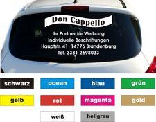 Werbung Autobeschriftung Eleganz Aufkleber Heckscheibe 5 Zeilen Breite 70 cm
