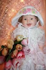 Hand & Heart White Sun Hat White Baby Girl Infant Hat 3-6 Mo Easter Hat B5