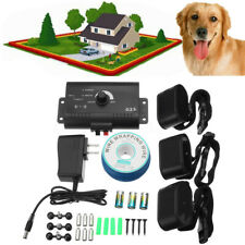 Waterproof Underground Shock Adjustable Collar Dog Electric Fence For 3 Dogs
