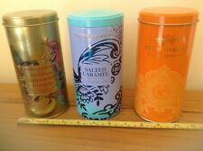 "Three Attractive Fortnum & Mason Biscuit tins. (Empty) 17cm / 7"" Tall approx."