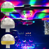 Car Mini Interior Colorful Music Neon Lights Phone LED USB Decor Atmosphere Lamp