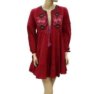 Odd Molly Anthropologie Forbid Me Not Tunic Mini Dress Embroidered L 3 Nw 222095