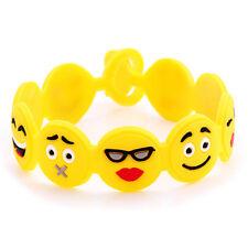 2pcs Smile Emoji Emotion Face Bracelet Wristband Cuff Charm Jewelry Kids TOY