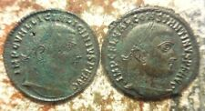 Lot of 2 Coins, each About VF+ Constantine & Licinius Tetrarchy, Largest 23 mm