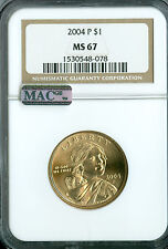 2004-P SACAGAWEA DOLLAR NGC MAC MS 67 PQ MAC SPOTLESS .