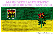 SASKATCHEWAN FLAG PATCH CANADA EMBROIDERED CANADIAN w/ VELCRO® Brand Fastener