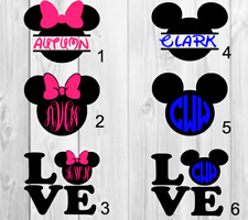 Personalized name Vinyl Decal Mickey mouse / Minnie Mouse d 3x3