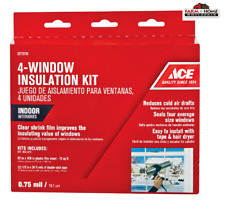 Indoor 4-Window Insulation Kit Clear ~ New
