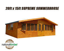 20FT x 15FT SUMMER HOUSE SUPREME LOG CABIN OFFICE BAR SHED HIGH QUALITY TIMBER