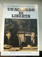 LIBRO: UN ACCORDO DI LIBERTA' - LA REVISIONE DEL CONCORDATO- 1984