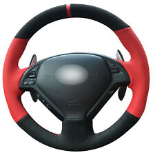Suede steering Wheel Cover for Infiniti G25 G35 G37 QX50 EX25 EX35 EX37 #IN03