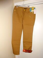 MISS TINA Latte Brown Jeans Size 16 Taste of Coulture 2 Front 2 Rear Pockets NEW