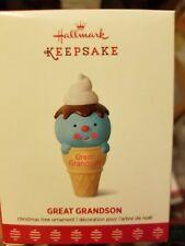 2017 Hallmark Keepsake Ice Cream Cone Great Grandson Dated Ornament Nib New In