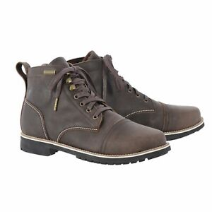 Waterproof Motorcycle Boots > Oxford Digby Short Leather Lace Up - Brown