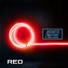 Neon LED Light Glow EL Wire + Control String Strip Rope Tube 3.2mm Thick - RED