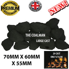 20 Glowing replacement Large cast coals 4 gas fire imitation ceramic live flame