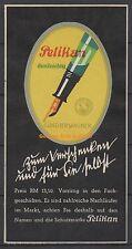 Reklamemarke - Pelikan, Günther Wagner, durchsichtig, Ludwig Hohlwein (#25623)