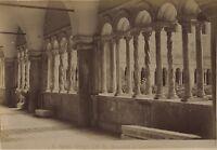 Italia Roma San Giovanni di Laterano Chiostro Foto Vintage Albumina Ca 1880