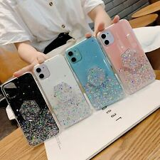Bling Glitter Epoxy Pop Up Holder Case Cover for iPhone 11 Pro XS X Max 7 8 Plus