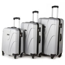 4 Wheel Lightweight Spinner Set of 3 Trolley Suitcase Luggage Case Cabin Bag SL