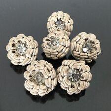 6 Boutons Ancien Passementerie Swarovski 1950 Haute Couture 6 Vintage Buttons