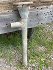 Antique Galvanized Boat Bilge Pump ~ Barn Found, Wood Handle, Shaft w/ Leather