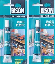 2 x 25ml Bison Model Plastic Adhesive Art Craft Hobby Glue Solid Waterproof New