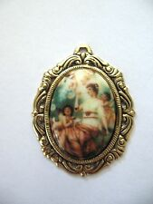 dollhouse doll house miniature  WALL PICTURE  CAMEO WOMAN WITH ANGELS AND BUBBLE