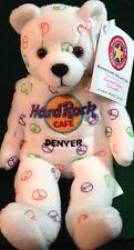 Hard Rock Cafe DENVER 2005 HRC PEACE Teddy Beara BEAR Plush MWMT w/TAG