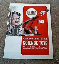 1961Gilbert Science Toys Catalog Near Excellent D2238