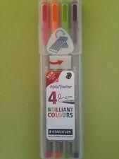 Staedtler Triplus Fineliner 4 Brilliant Colours 0.3mm 334SB40