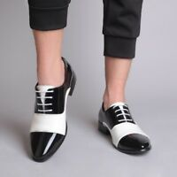 Chic Men Shiny Business Patent  Leather Lace Up Hot Dress Formal Wedding Shoes s