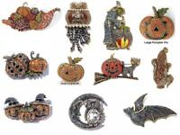 Heidi Daus Pin Autumn Pumpkin Halloween Pat Witch Owl Price range $61-$148