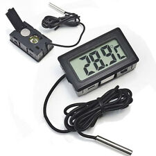 Mini Digital LCD Indoor/Outdoor Temperature Meter Thermometer +Battery+Cable SP