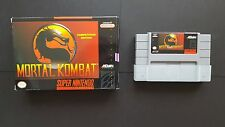 MORTAL KOMBAT SNES Original Super Nintendo Cartridge with Box