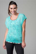 New SOYBU Women's Camryn Tee Shirt Running Training Yoga Waterfall Size Medium
