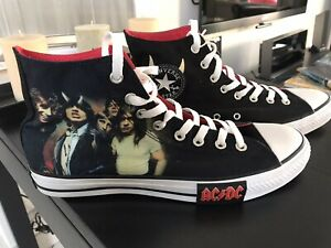 ACDC Converse Chucks All Star Taille 43 UK 9.5 AC/DC Highway To Hell NEW