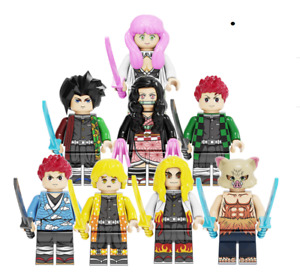 Demon Slayer Minifigures Toys Kamado Tanjirou Minifigures lego MOC 2021 8 Pcs