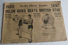 Feb 20, 1931 Des Moines Sports Section HELEN HICKS BEATS BRITISH STAR,Basketball