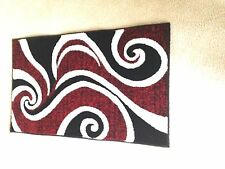3 PIECE RUG SET****LUXURIOUS & SOFT/SUMMIT COLLECTION****RED/BLACK/WHITE