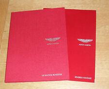 Aston Martin Vantage 4.3 Roadster Hardback Brochure 2007-2009 + Reverso