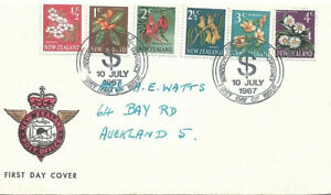 NEW ZEALAND - 1967 Post Office FDI with Flower Definitives Addressed